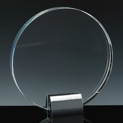 "Fusion Crystal 8"" Circle & Chrome Base"