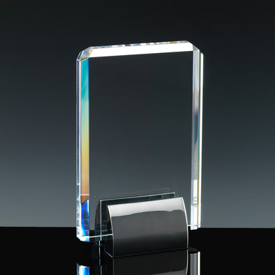 "Fusion Crystal 6"" Plaque & Chrome Base"
