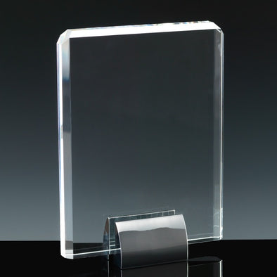 "Fusion Crystal 8"" Plaque & Chrome Base"