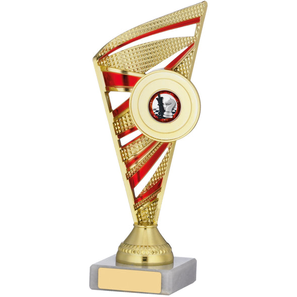 Gold And Red Trophy 22cm