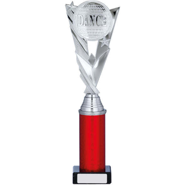 Silver/Red Trophy 31cm