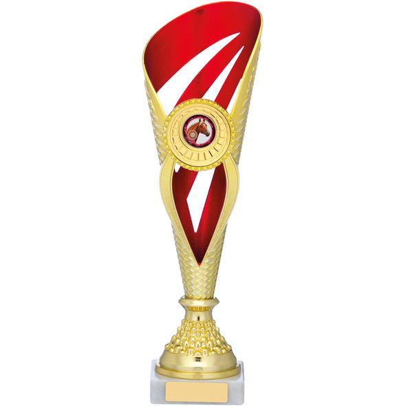 Gold And Red Holder Trophy 32cm