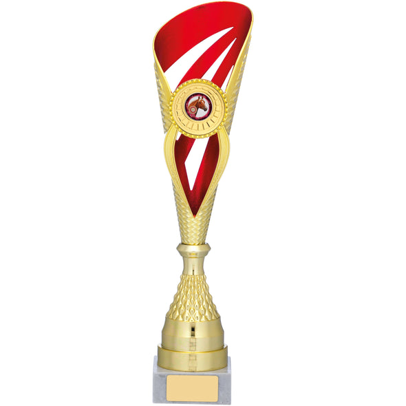 Gold And Red Holder Trophy 39cm