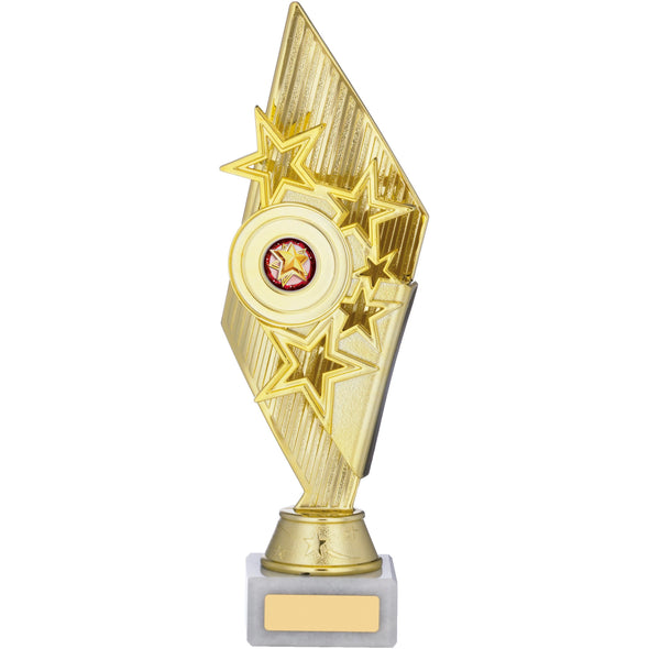 GOLD AND RED HOLDER TROPHY 28cm