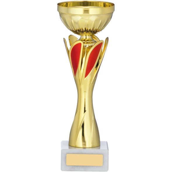 Gold And Red Cup Trophy 23cm
