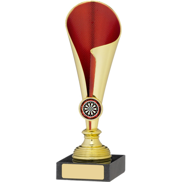 Gold Red Trophy Cup 20cm