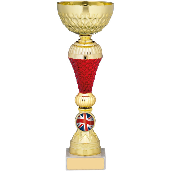 Gold/Red Trophy Cup 21cm