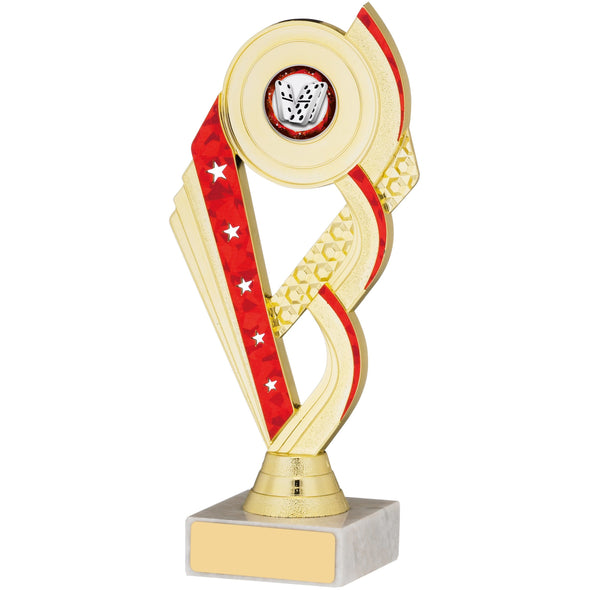 Gold And Red Trophy Cup 19cm