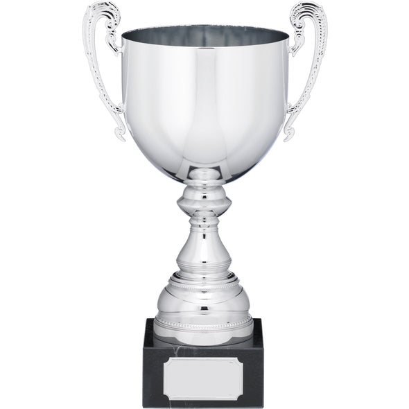 Silver Trophy Cup With Handles 33cm