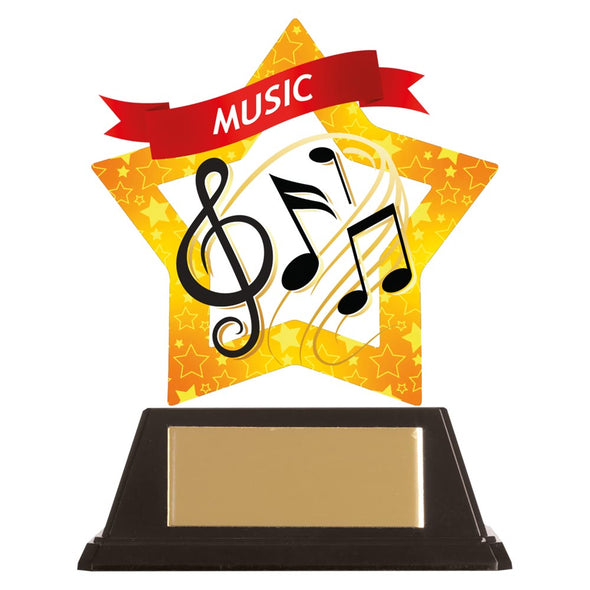 Mini-Star Music Acrylic Plaque 100mm