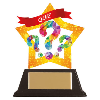 Mini-Star Quiz Acrylic Plaque 100mm
