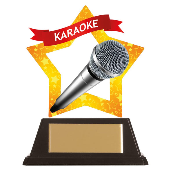 Mini-Star Karaoke Acrylic Plaque 100mm