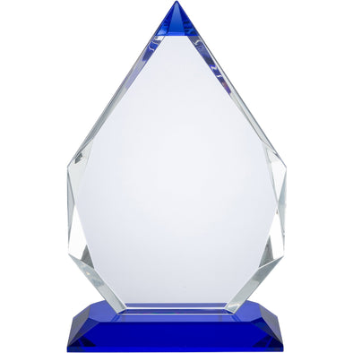 8in Clear & Blue Crystal Award (Boxed)