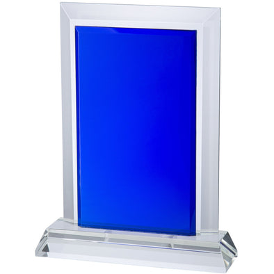 9in Clear & Blue Crystal Award (Boxed)