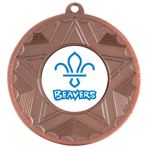 Beavers Bronze Star 50mm Medal