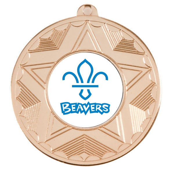 Beavers Gold Star 50mm Medal