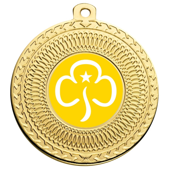 Brownies Gold Swirl 50mm Medal