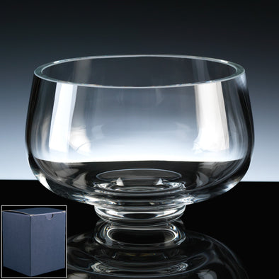 "Balmoral Glass Engraved 6"" Heeled Fruit Bowl, Blue Card Box"