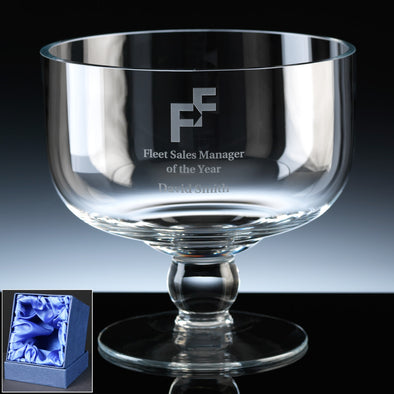 "Balmoral Glass Engraved 7"" Classic (High) Comport, Satin Box"