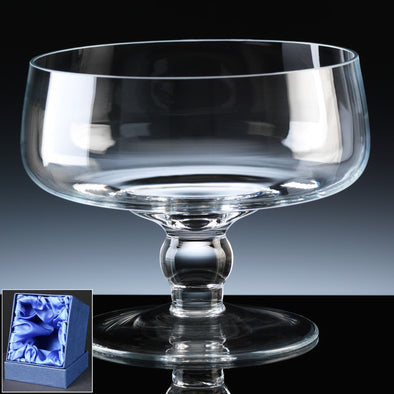 "Balmoral Glass Engraved 7"" Classic (Low) Comport, Satin Box"