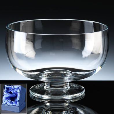 "Balmoral Glass Engraved 8"" Style Comport, Satin Box"