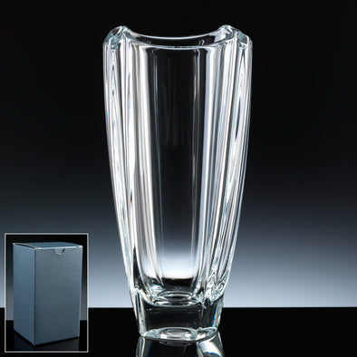 "Bohemia Crystal 10"" Colosseum Vase, Blue Box"