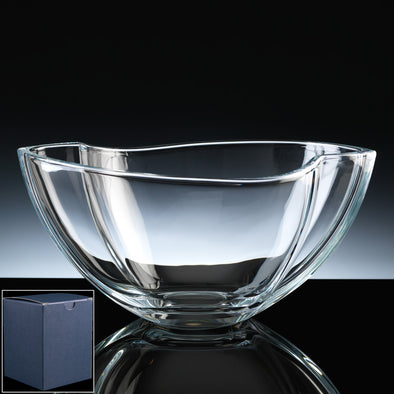 "Bohemia Crystal Engraved 11"" Smile Fruit Bowl, Blue Box"