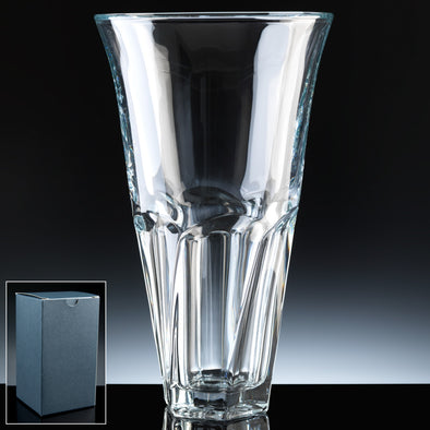 "Bohemia Crystal 14"" Apollo Vase, Blue Box"