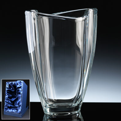 "Bohemia Crystal 9"" Smile Vase, Satin Box"