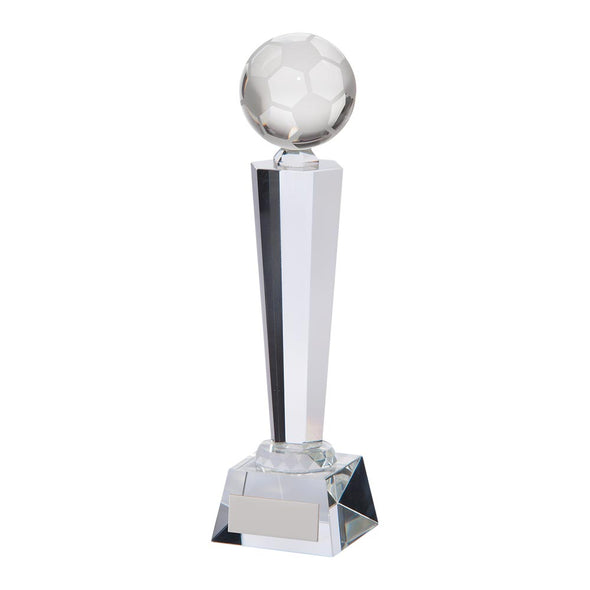Interceptor Football Crystal Award 255mm