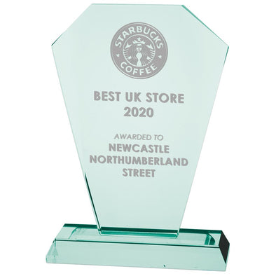 Charleston Jade Glass Award 220mm