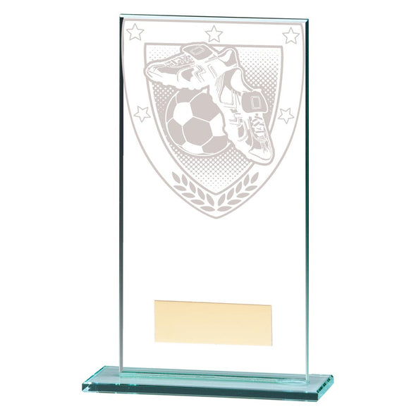 Millennium Football Boot & Ball Jade Glass Award 160mm