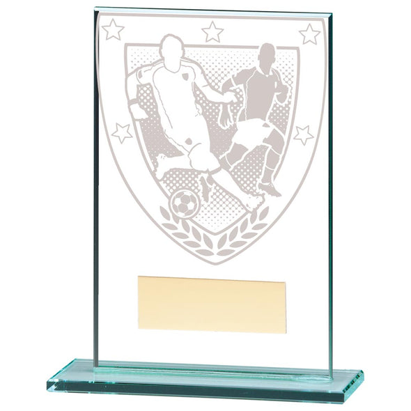 Millennium Football Jade Glass Award 125mm
