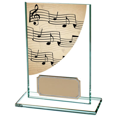Colour Curve Music Jade Glass Award 125mm