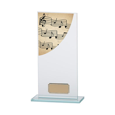 Colour Curve Music Jade Glass Award 200mm