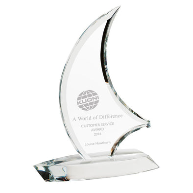 The Admiral Optical Crystal Sail Award 275mm
