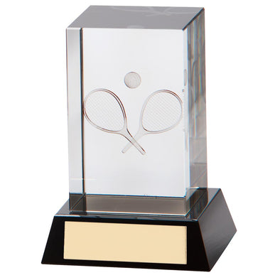 Conquest Tennis 3d Crystal Award 100mm