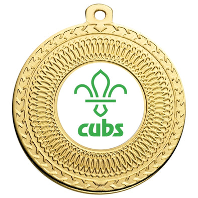 Cubs Gold Swirl 50mm Medal