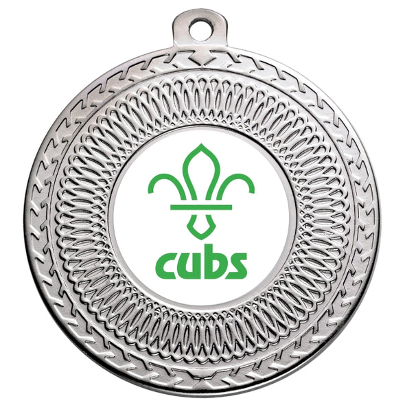 Cubs Silver Swirl 50mm Medal