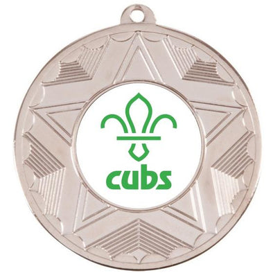Cubs Silver Star 50mm Medal