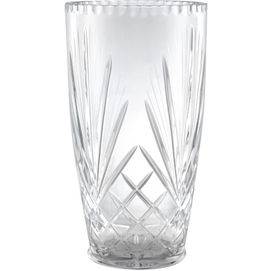 Hand Cut Crystal Vase 12in