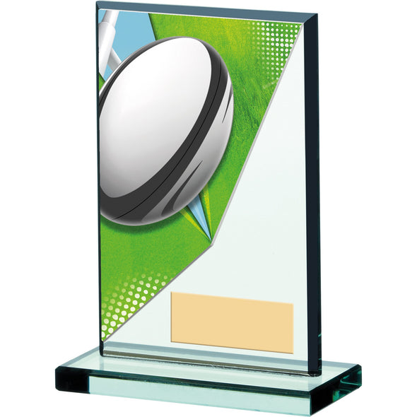 RUGBY ACRYCLIC GLASS AWARD 13cm