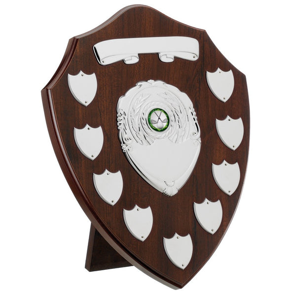 "Dark Cherry 9 Year Presentation Shield 30.5cm (10"")"
