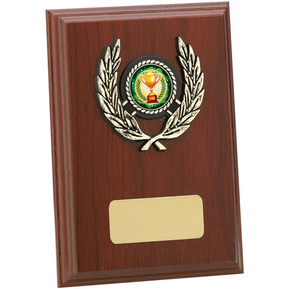 Mahogany Finish Plaque 15cm