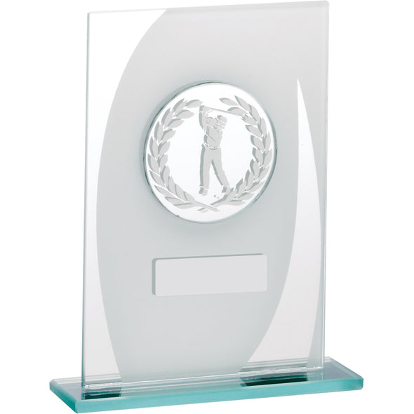 Male Golf Glass Award 14.5cm
