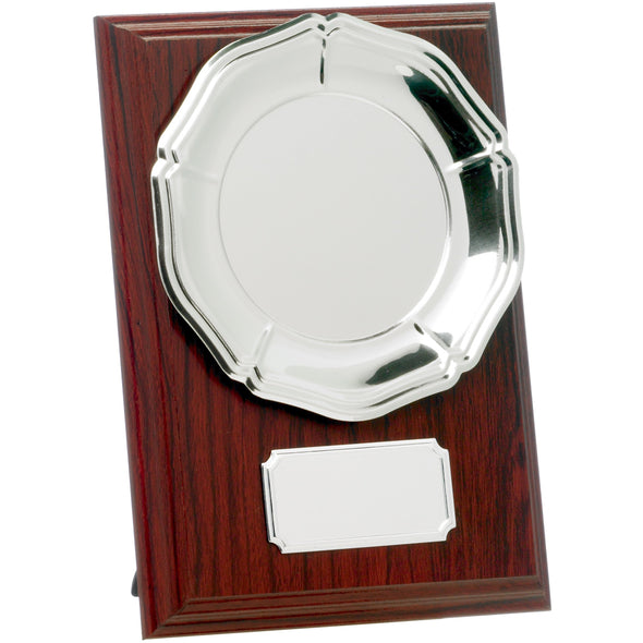 Mahogany Plaque With Tray 15cm
