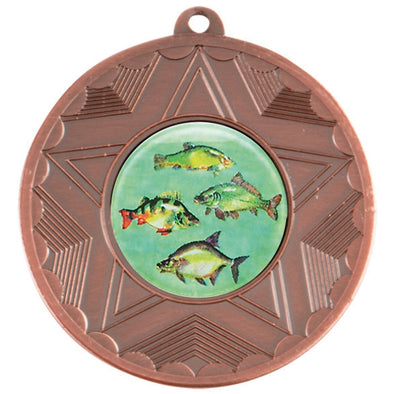 Fresh Water Fishing Bronze Star 50mm Medal