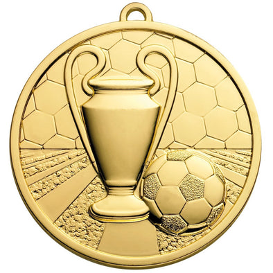 Football Champions Medal 50mm Gold