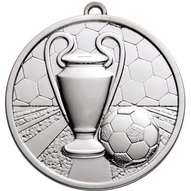 Football Champions Medal 50mm Silver
