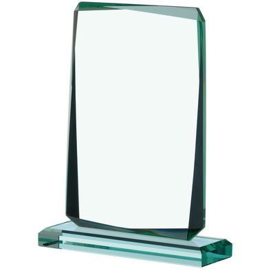 JADE GLASS RECTANGLE AWARD 16.5cm